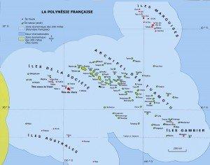 Carte Polynésie Française